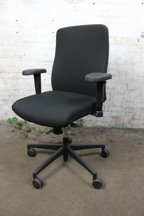Verstelbare Bureaustoel Zwart.Bureaustoel Tweedehands Zwart Verstelbare Armleuningen Bs15