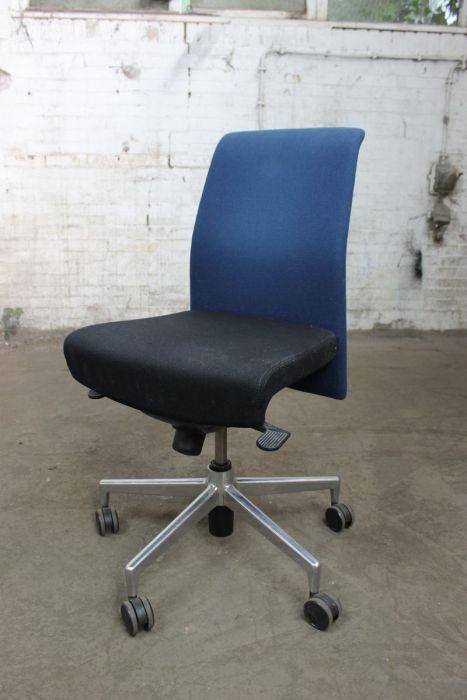 Bureaustoel Zonder Armleuning.Kusch Co Bureaustoel Gebruikt Zwarte Zitting Zonder