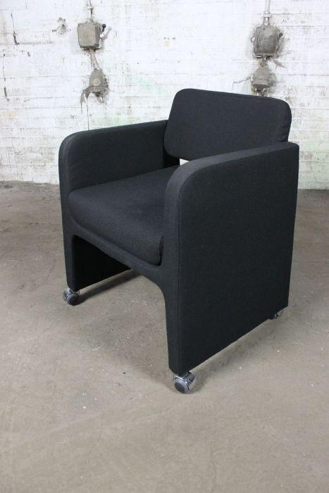 Tweedehands Fauteuils Design.Segis Sigma Fauteuil Tweedehands Italiaanse Design Zwart Vs61